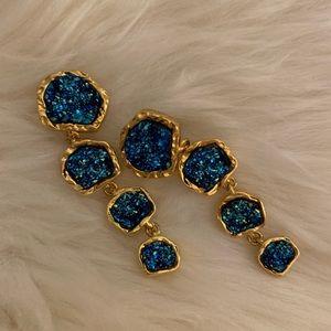 Baublebar Midnight Druzy Drops Earrings